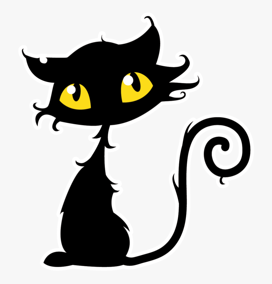 Halloween Black Cat Clipart.