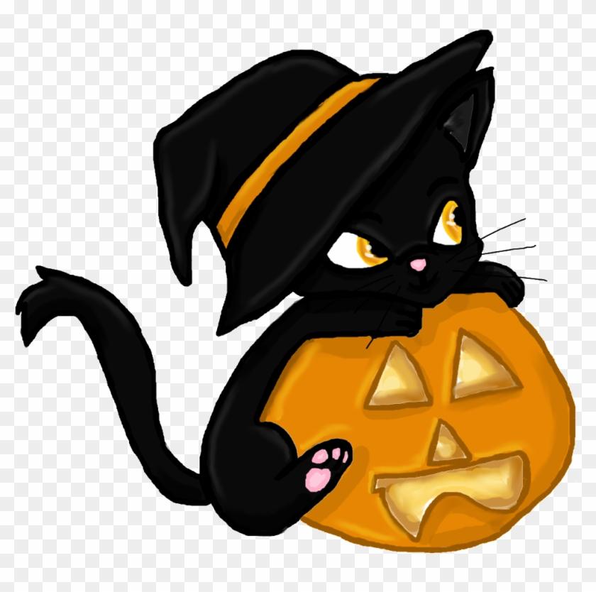 Halloween Clipart Black Cat.