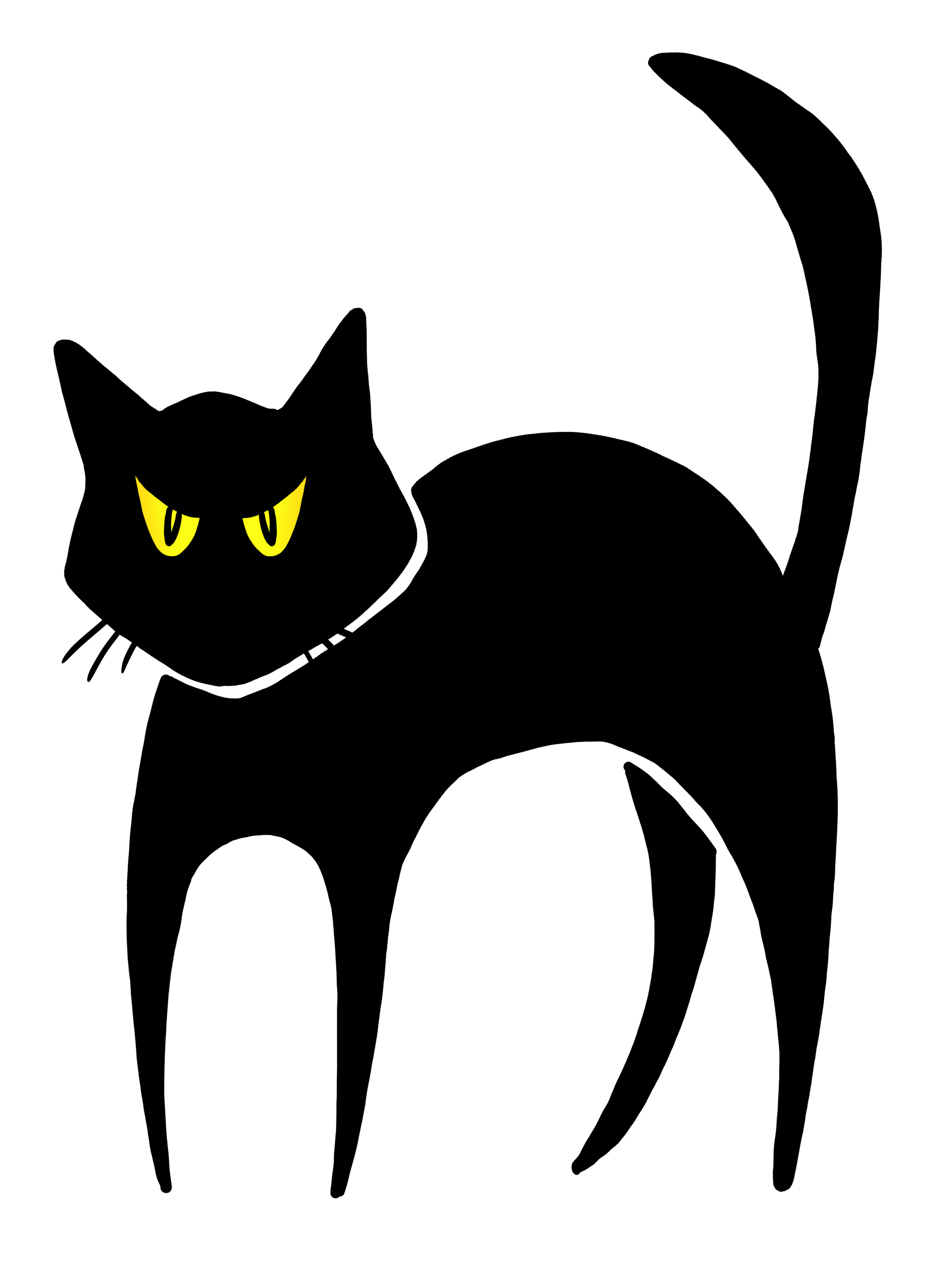 Black Cat Halloween Clipart Library Free Images Transparent Png.