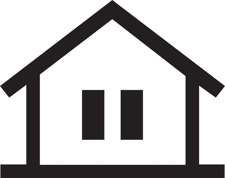 House center clipart black and white.