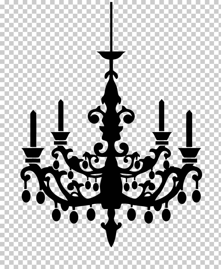 Chandelier Silhouette , Silhouette PNG clipart.
