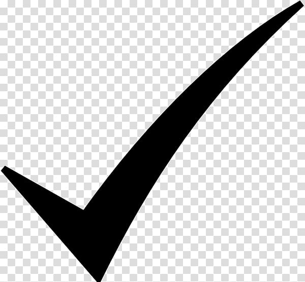 Check mark Symbol , Black Check Mark transparent background.