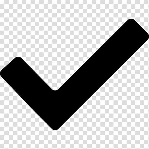 Check mark Symbol Icon, Black Checkmark transparent.