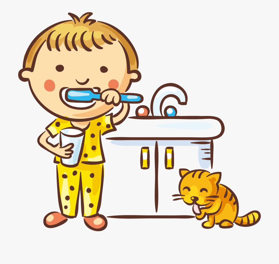 Brushing Teeth Clipart Black And White.