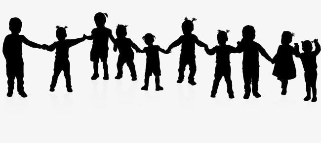 Children Holding Hands, Children Clipart #134433.