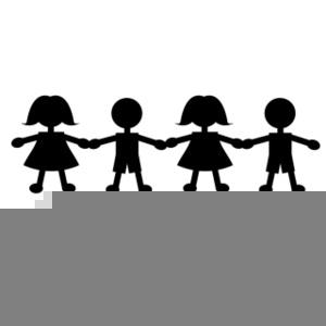 Black School Children Clipart.