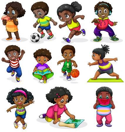 1,762 Children Reading Black Stock Vector Illustration And Royalty.