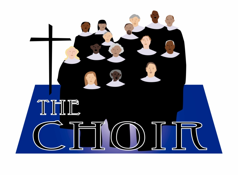 Graphic Black And White Church Choir Clipart.