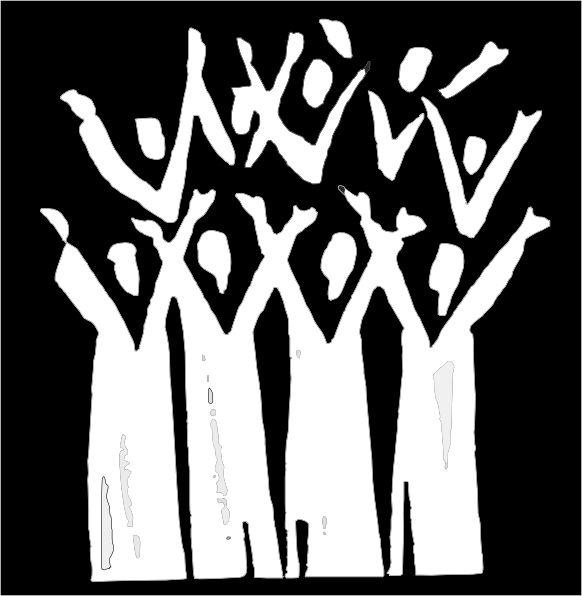 Choir In Black And White Clip Art at Clker.com.