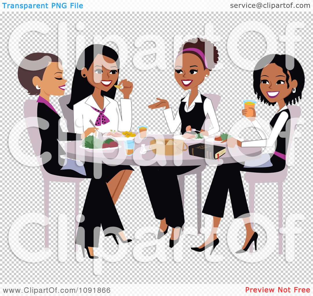African American Christian Woman Clipart.