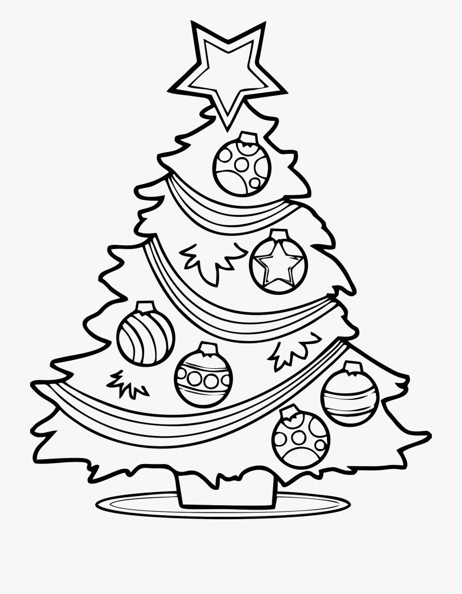 Free Christmas Tree Coloring Page Printable.