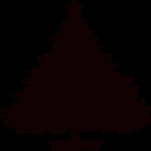 Black Christmas Tree Silhouette Clip Art at Clker.com.