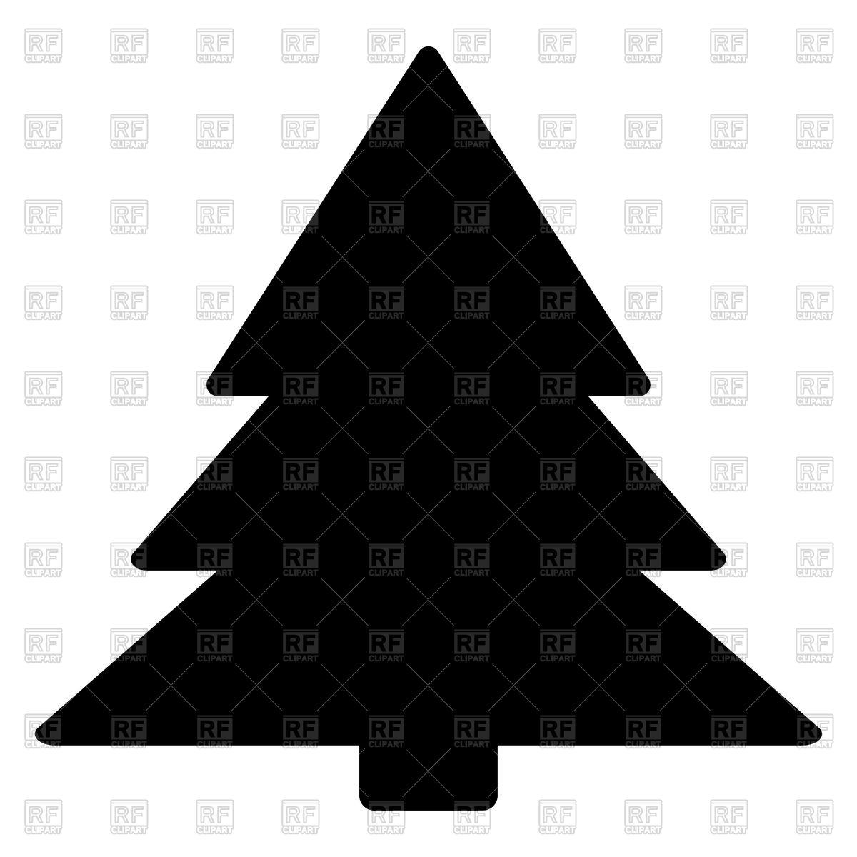 Christmas tree silhouette Stock Vector Image.