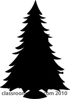 Christmas Tree Silhouette.