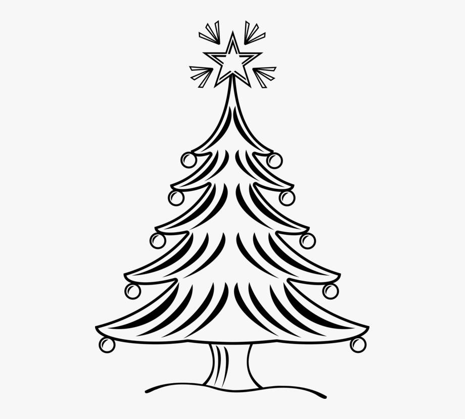 Christmas Tree Drawing Black And White Clip Art Christmas.