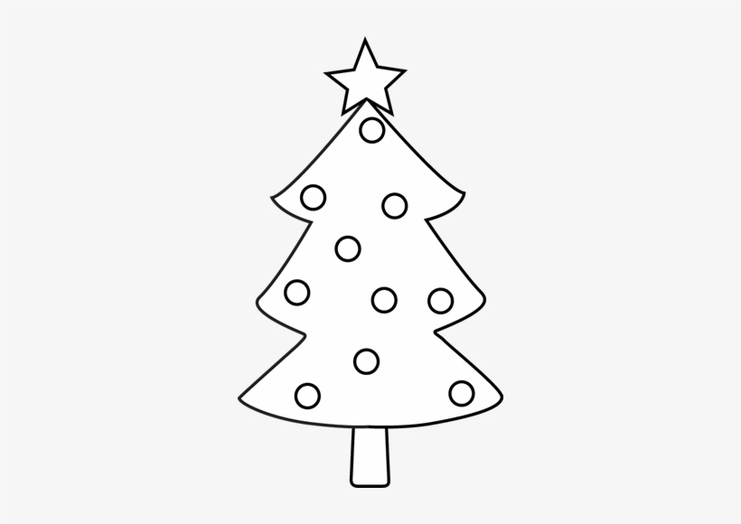 Clip Art Christmas Tree Outline Christmas Tree Black.