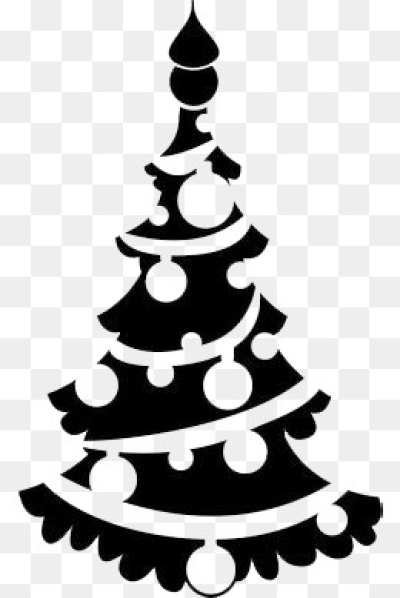 Download Free png Black Christmas Tree Png, Vectors, PSD, and.