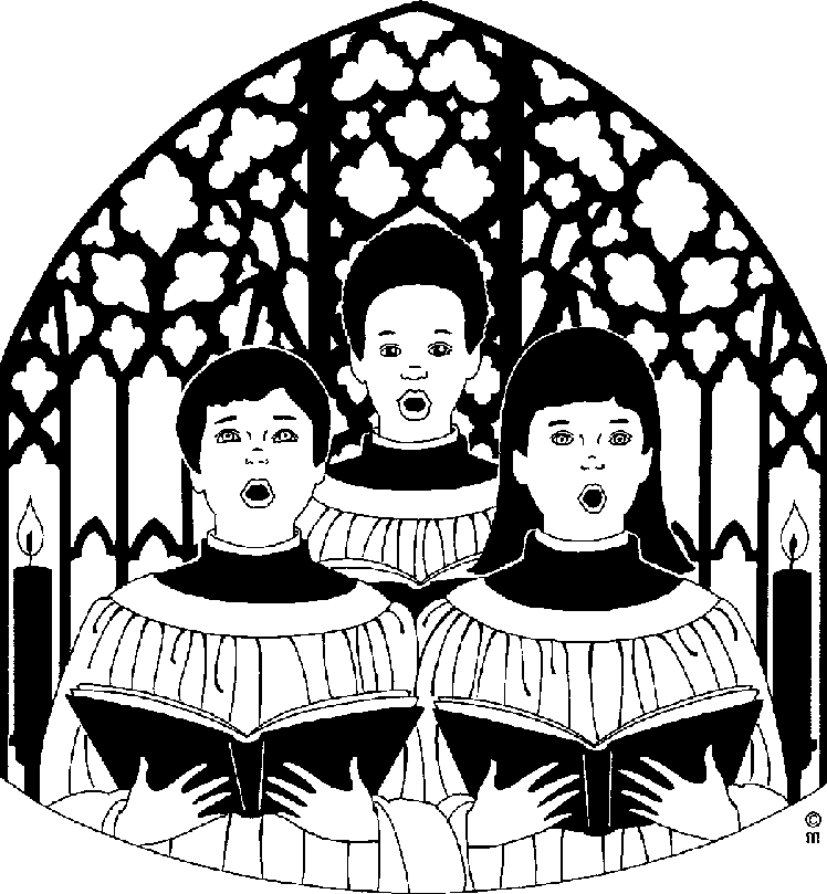 Black church choir clipart kid.