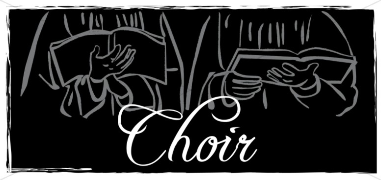 Black and White Choir Hands Clipart.