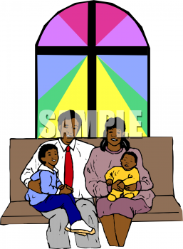 Black Church Family Clipart (11 ).