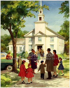 Black Family Going To Church Clipart.