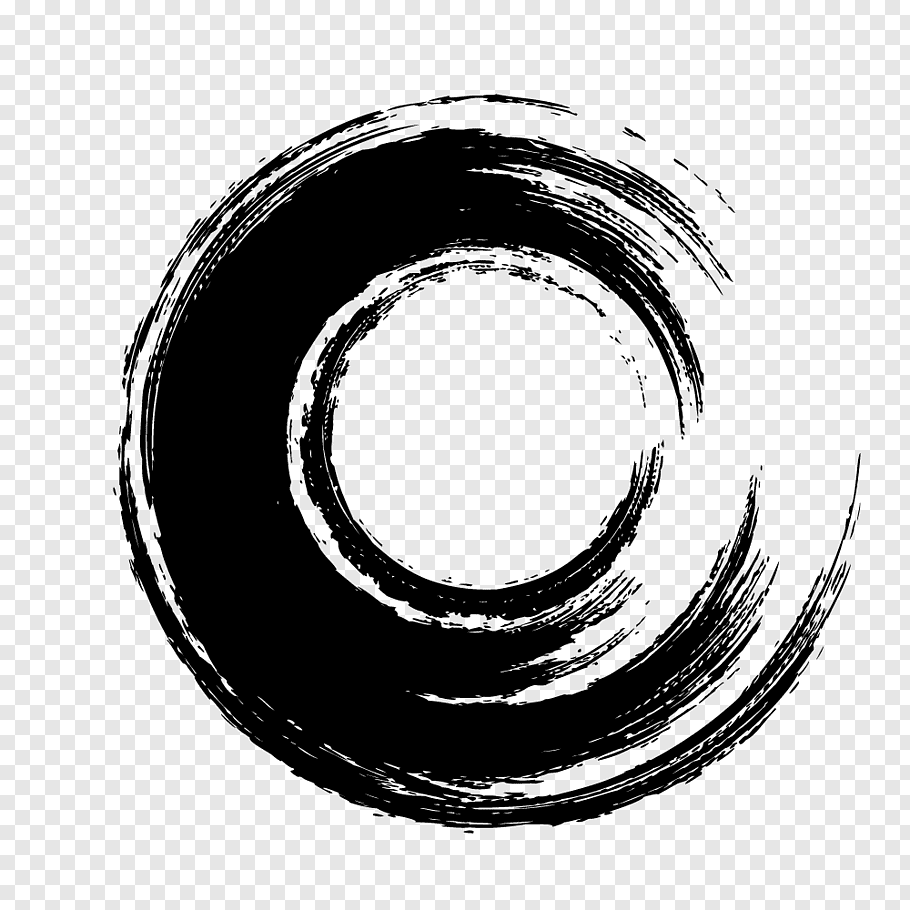 Ink brush Ink brush Calligraphy, Black circle brush free png.