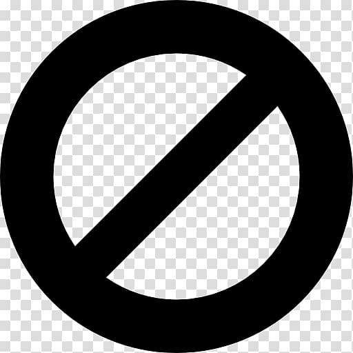 No symbol Slash , circle transparent background PNG clipart.