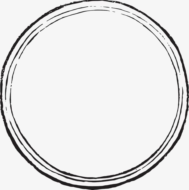 Black And White Circle, Circle Clipart, Black And White.