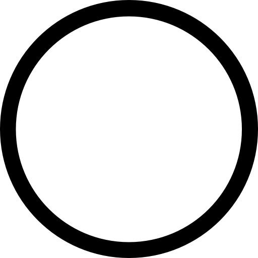 Circle outline Icons.
