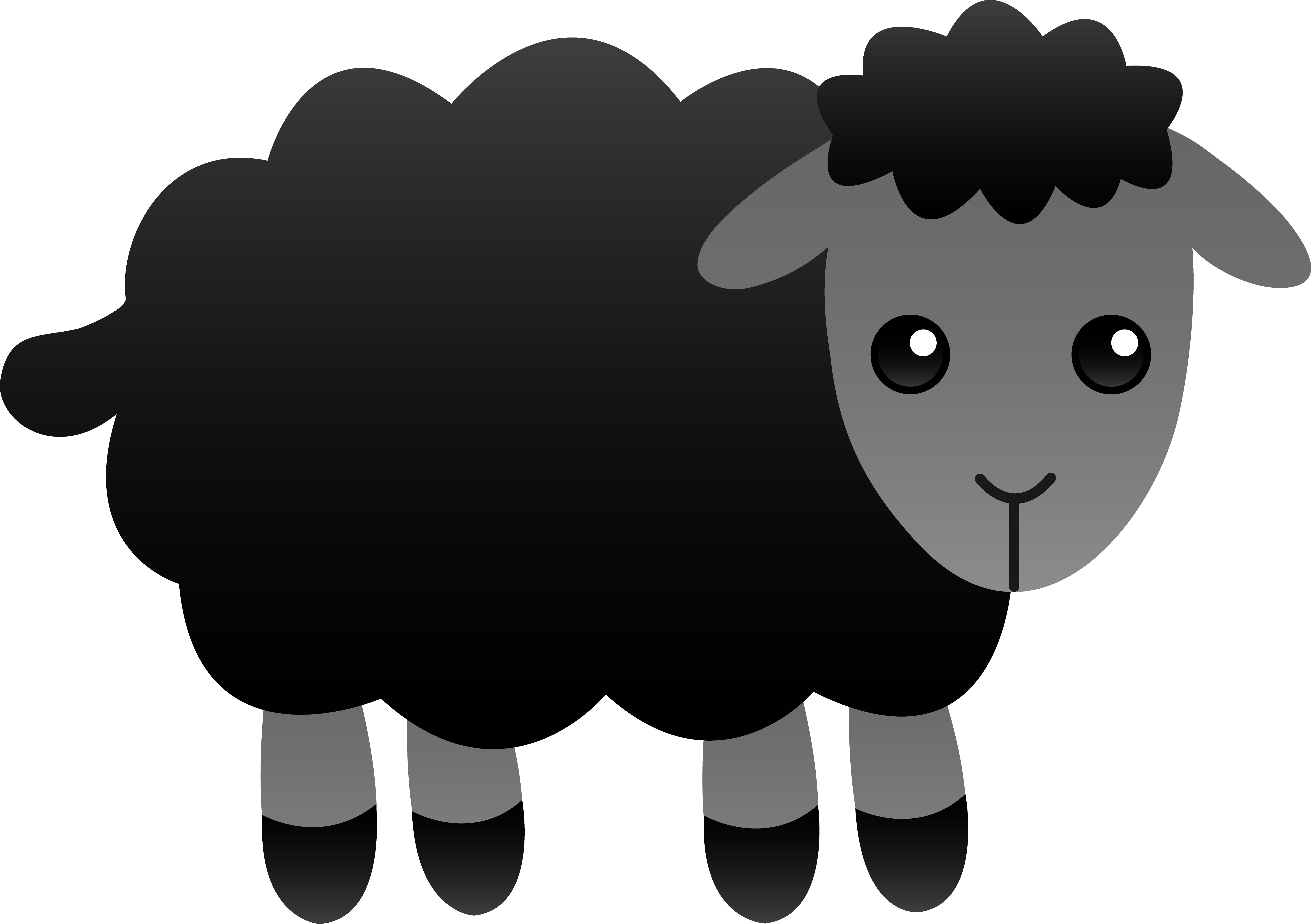 Sheep Clip Art Black And White.