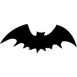 Free black bat clip art.
