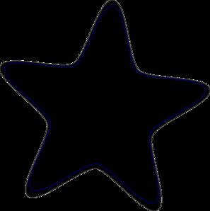 Star Clip Art Black And White.