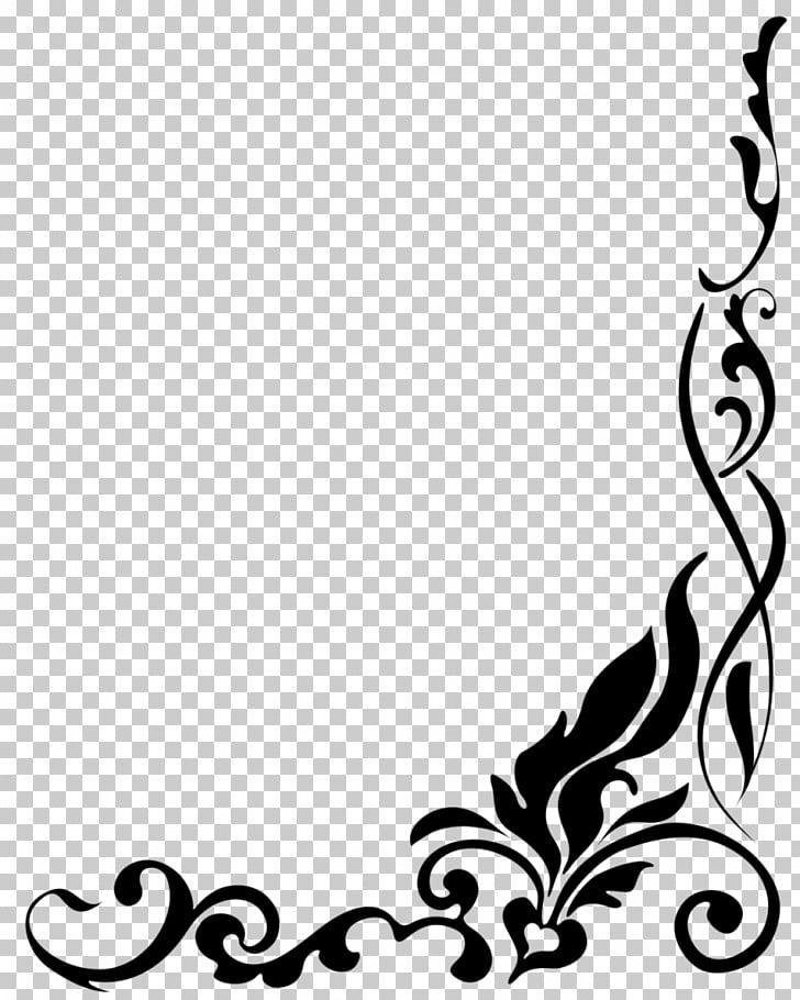 Drawing , Border Designs s, black photo frame illustration.