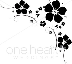 Clipart Flower Black.