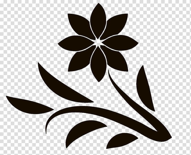 Spring Flowers , black flower illustration transparent.