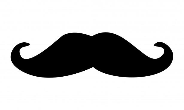 Black Moustache Clipart Free Stock Photo.