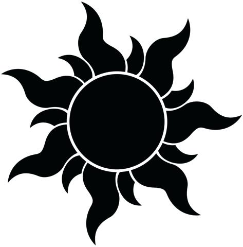 Free Sun Clipart Black and White Pictures.