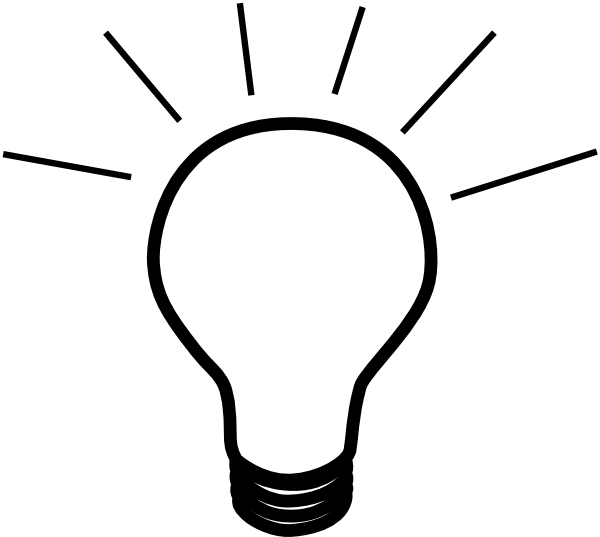 Light Bulb Clipart Black And White.