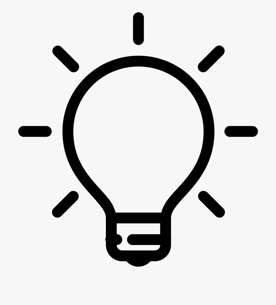Light Bulb Png Black.