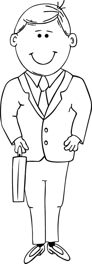 Clipart Man Black And White.