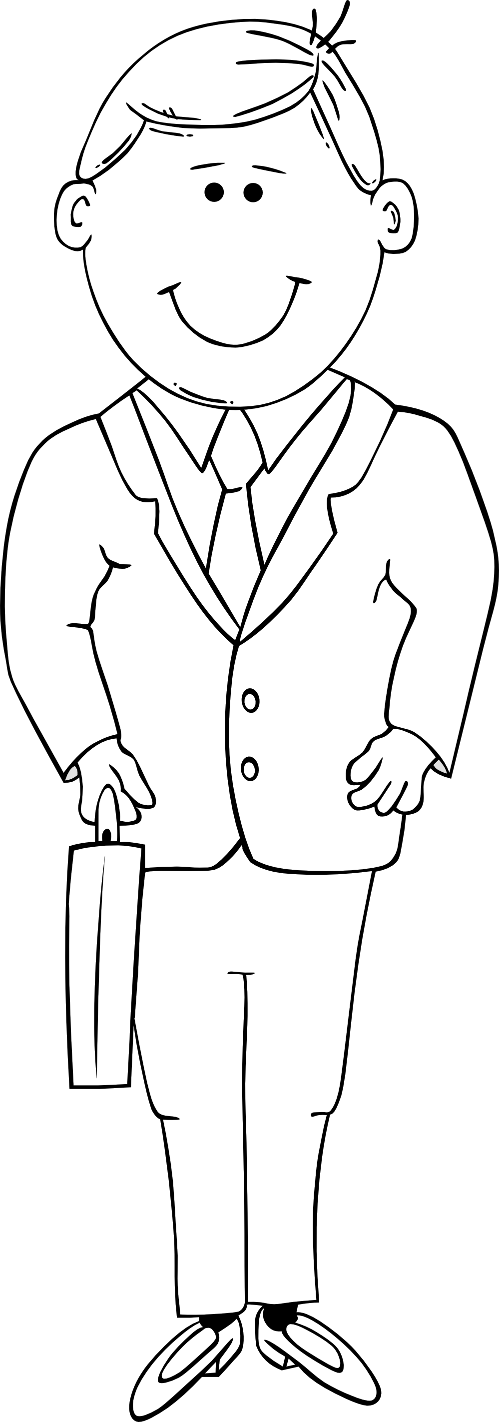 Black And White Clipart Man.