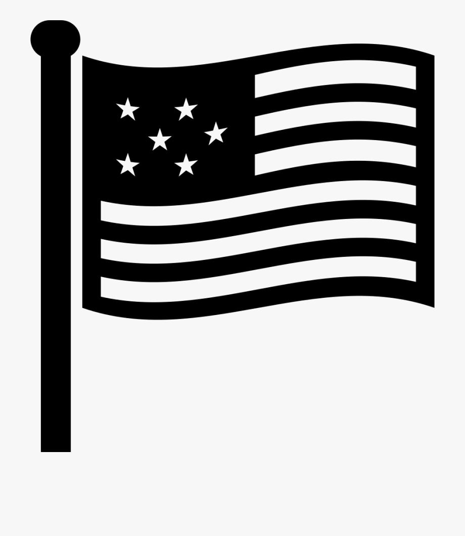 Usa Flag Png Black.