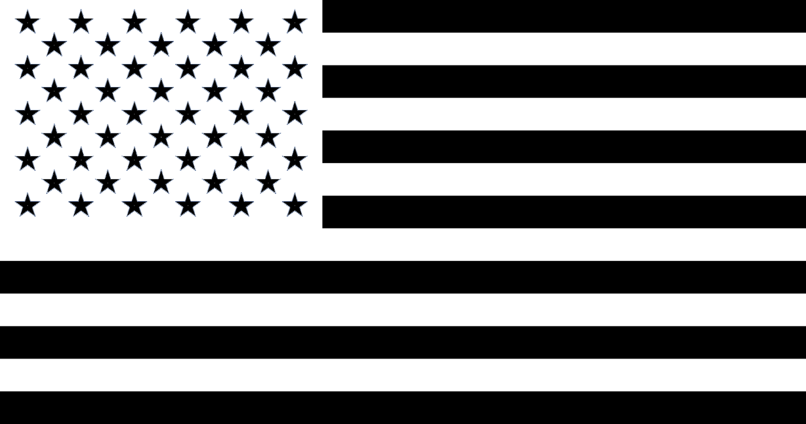 Flag of the United States Black Clip art.