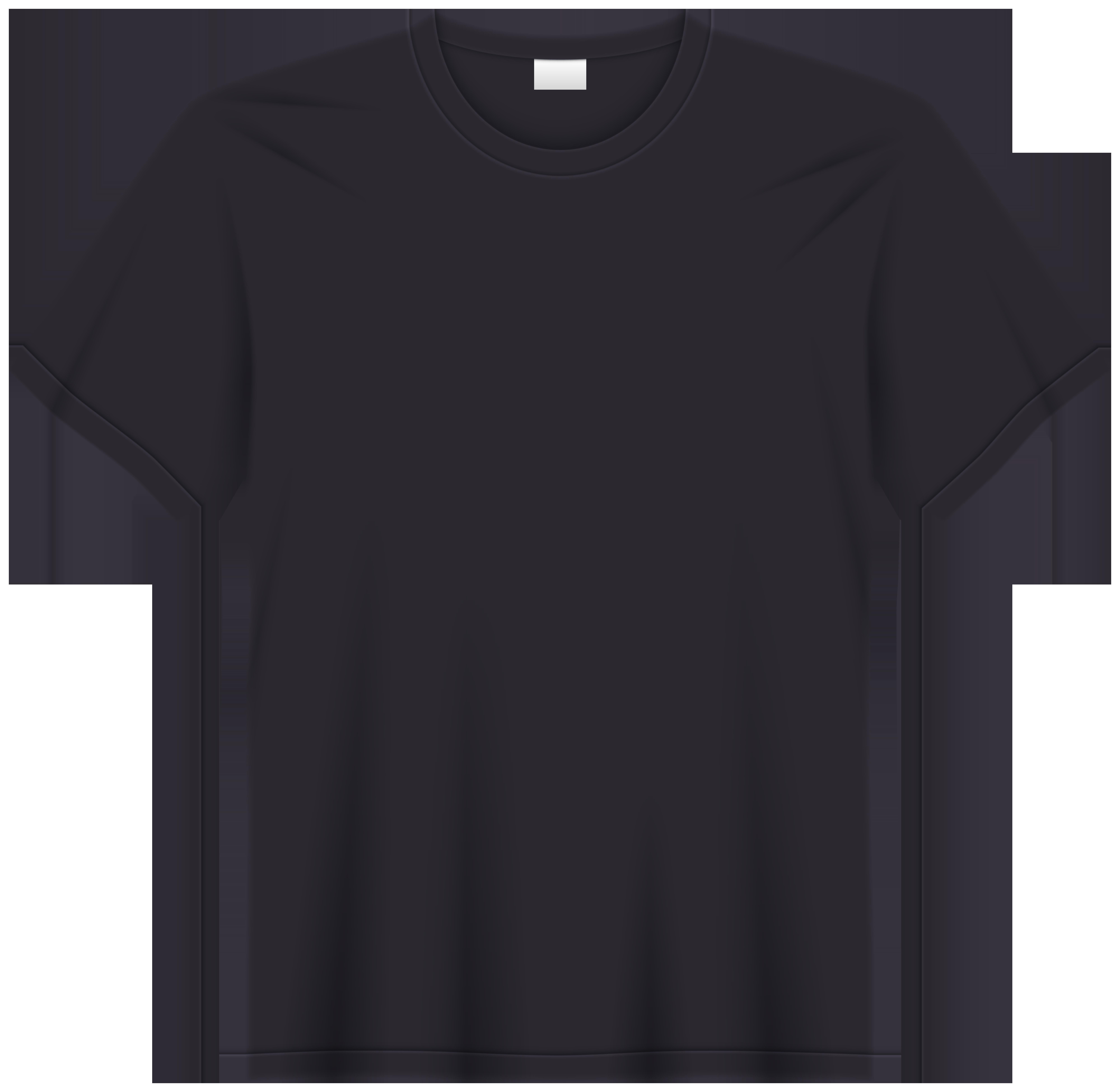 Black T Shirt PNG Clip Art.