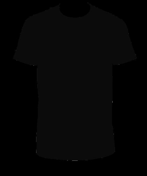 Tshirt Black Clipart transparent PNG.