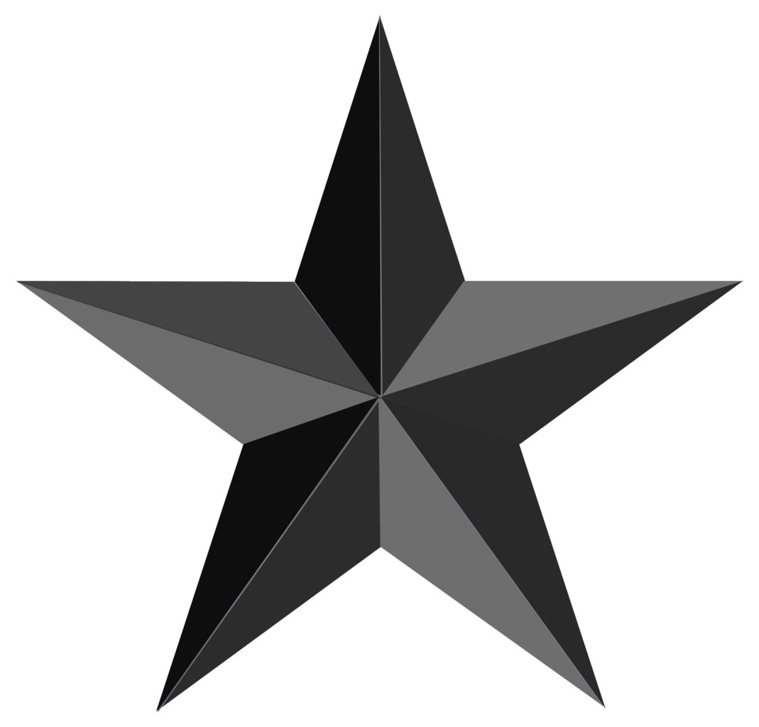 Black Star Png Clipart Image.