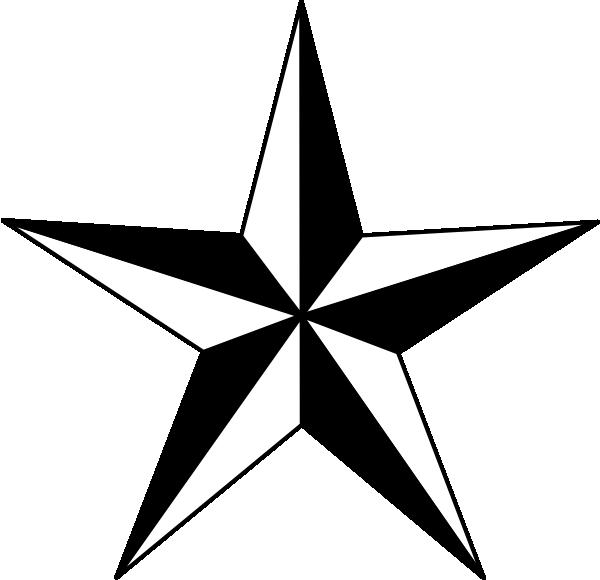 Black Nautical Star clip art.
