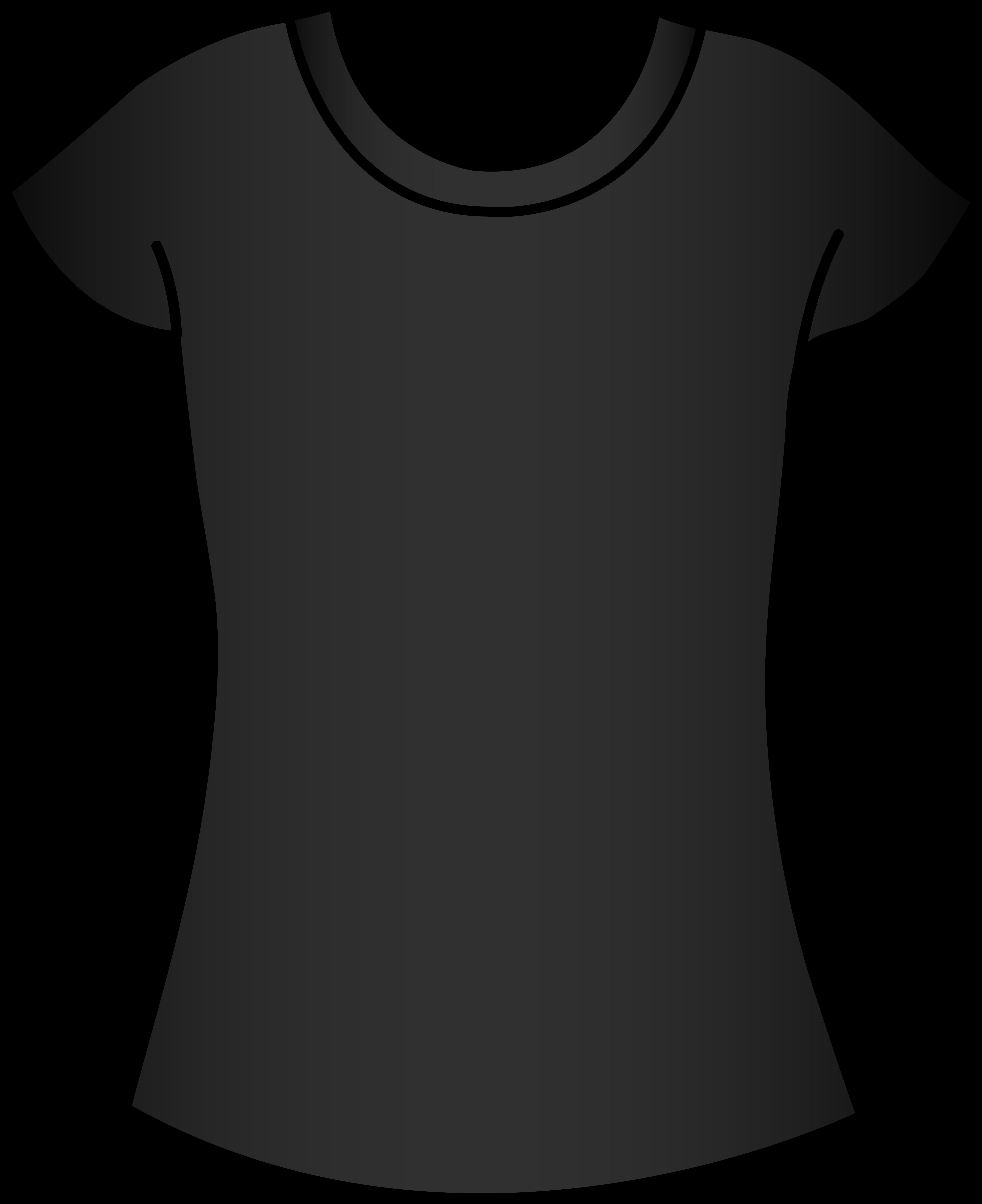 Womens Black T Shirt Template.