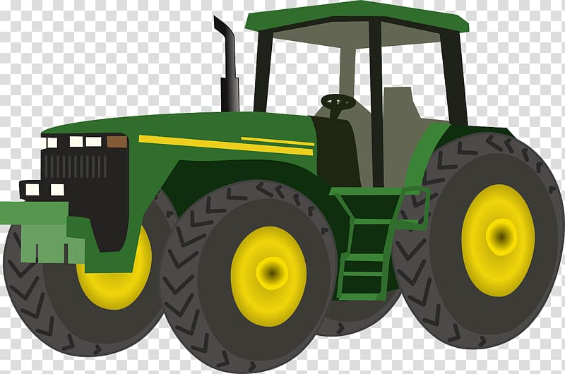Green and yellow tractor , John Deere : Transportation.