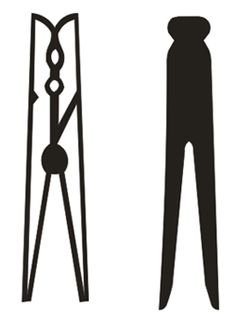 Free Clothespin Clipart Black And White, Download Free Clip.